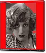 Film Homage Joan Crawford Louis Milestone Rain 1932 Collage Color Added 2010 Canvas Print
