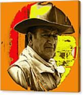 Film Homage John Wayne Andy Warhol Inspired Rio Lobo Variation 1 Old Tucson Arizona 1970-2009 Canvas Print