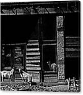Film Homage King Vidor   Billy The Kid 1930 Wild Goats Ghost Town Billy The Kid Haunt White Oaks Nm  Canvas Print