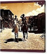 Film Homage Mark Slade Cameron Mitchell Riding Horses The High Chaparral Old Tucson Arizona Canvas Print