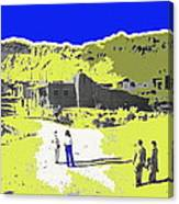 Film Homage Old Tucson Arizona In The Mid 1940's Canvas Print