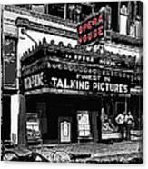 Film Homage Opera House Tucson Arizona Circa 1929-2012 Canvas Print