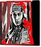 Film Homage Rudolph Valentino The Shiek 1921 Collage Color Added 2008 Canvas Print
