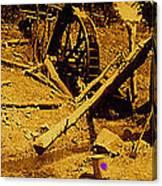 Film Homage Sergei Eisenstein Sutter's Gold 1930 Mining Sluice 1880's-2008 Canvas Print