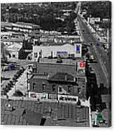 Film Homage Ted Degrazia Cine Plaza Theater  Blue W. Congress Tucson Arizona 1936-2008 Canvas Print