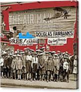 Film Homage The Air Mail  Leader Theater Washington D.c. 1925-2010 Canvas Print