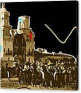 Film Homage The Gay Desperado Set San Xavier Mission Tucson Arizona 1936-2008 Canvas Print