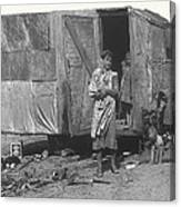 Film Homage The Grapes Of Wrath 1 1940 Family In Shack Perhaps Eloy Arizona 1940-2008 Canvas Print