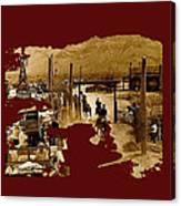 Film Homage The High Chaparral Set Collage Old Tucson Arizona C.1967-2013 Canvas Print