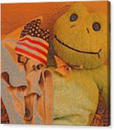 Film Homage The Muppet Movie 1979 Number 1 Froggie Colored Pencil American Flag Casa Grande Az 2004 Canvas Print