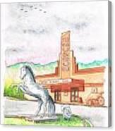 Film Museum In Lone Pine, California Canvas Print