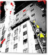 Film Noir Act Of Violence 1949 Pioneer Hotel Fire 1970 Jack Schaeffer Photo Color Added 2012 Canvas Print