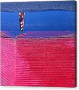 Film Noir  Angela Lansbury The Manchurian Candidate 1962 Flag Water Reflection Casa Grande Az 2005 Canvas Print