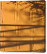 Film Noir Caught 2 1949 Shadow On Garage Door Casa Grande Arizona. 2004 Canvas Print