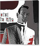 Film Noir David Janssen The Fugitive Santa Rita Hotel Front Xmas Tucson 1963 Color Added 2009 Canvas Print