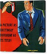 Film Noir Edmund O'brien D.o.a. 1949 Poster Color Added 2008 Canvas Print