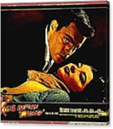 Film Noir Gerd Oswald Robert Wagner A Kiss Before Dying 1956 Poster Color Toning Added 2008 Canvas Print
