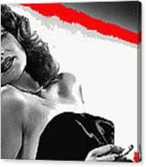 Film Noir Jean Louis Rita Hayworth Gilda 1946 Color Added 2012 Canvas Print