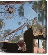 Film Noir Jim Thompson The Grifters 1990 Palm Trees Shattered Glass Casa Grande Arizona 2004 Canvas Print