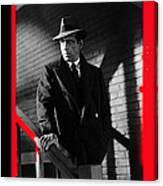 Film Noir John Huston Humphrey Bogart The Maltese Falcon 1941 Color Added 2012 Canvas Print