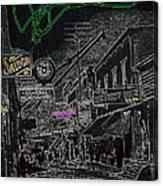 Film Noir Lee Marvin Sylvia Sidney Violent Saturday 1956  C.1885 Bisbee Az Drawing Color Added 2008 Canvas Print