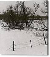 Film Noir Nicholas Ray Ida Lupino On Dangerous Ground 1952 1 Rko Radio Fence Near Aberdeen Sd 1965 Canvas Print