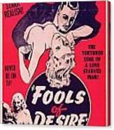 Film Poster Fools Of Desire 1930s Canvas Print