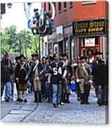 Filming New England Patriots Commercial Canvas Print