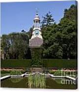 Filoli Garden With Pond Canvas Print