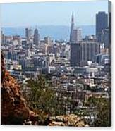 Financial District From Corona Heights Canvas Print