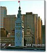 Financial District Lower Market Street San Francisco Canvas Print