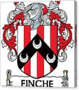 Finche Coat Of Arms Irish Canvas Print