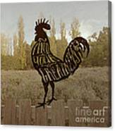Find Your Greatness Rooster Chicken Fowl Vintage Typography Canvas Print
