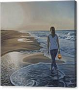 Finding Her Treasure Canvas Print