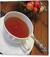 Fine Tea And Cherries Canvas Print
