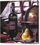 Fine Wine For New Voyage Canvas Print