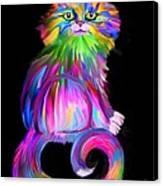 Finger Painted Cat Canvas Print