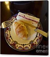 Finger Sandwiches For Traditional Afternoon Tea Canvas Print