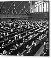 Fingerprinting At The Federal Armory 1945 Canvas Print