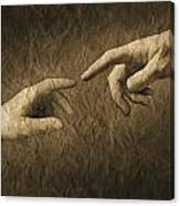 Fingers Almost Touching Canvas Print