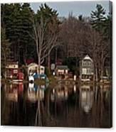 Finn Village On Demond Pond - Rutland Massachusetts Canvas Print