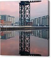 Finnieston Crane Reflections Canvas Print