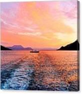 Fiord Sunset  Canvas Print