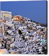 Fira Town During Dusk Time Canvas Print