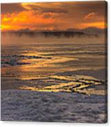 Fire And Ice Cropped Canvas Print