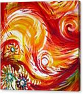 Fire Bird. Zhar Ptitsa.triplych Panel 1 Canvas Print
