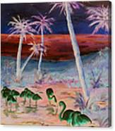 Fire Birds Canvas Print