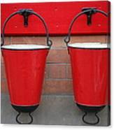 Fire Buckets Canvas Print