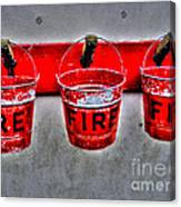 Fire Buckets Canvas Print