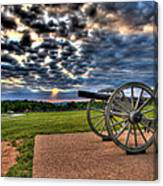Fire Clouds Over A Gettysburg Cannon Canvas Print
